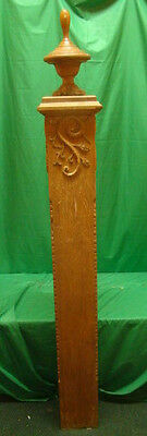 Vintage - Antique Wooden Newel Stairway Post - Architectural Salvage -OAK- HUGE