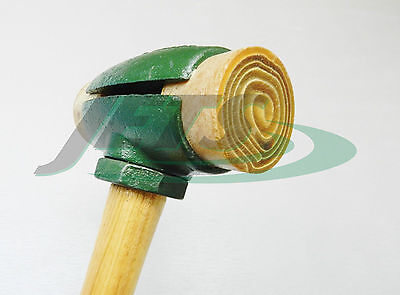 """Rawhide Mallet Split Head Hammer #4 GARLAND 31004 with 2"""" Rawhide Faces 4 Pound"""