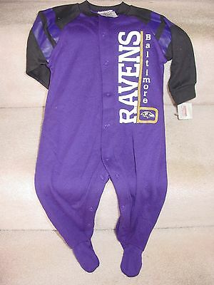 New Baby Ravens Baltimore Purple Sleeper Size 6 To 9 Months
