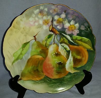 Antique 19Th Century Hand Painted Artist Signed Limoges Cabinet Display Plate