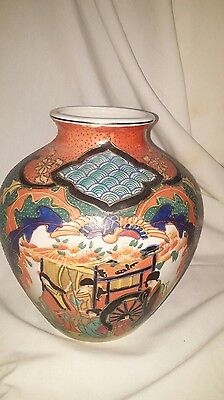 Chinese vase hand painted vintage