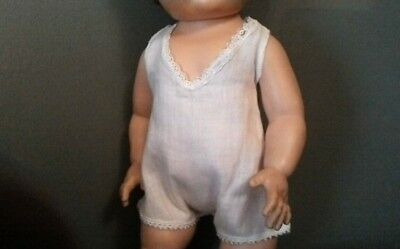 "Vintage white cotton one piece undies fits 15"" Tiny Tears doll"