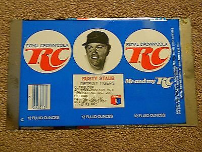 Vintage RC Cola Flat Can Featuring Rusty Staub of the Detroit Tigers -1976