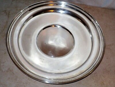 "Nice Heavy STERLING SILVER Offering Plate Dish 316 Grams 9 3/4"" Hallmarks"