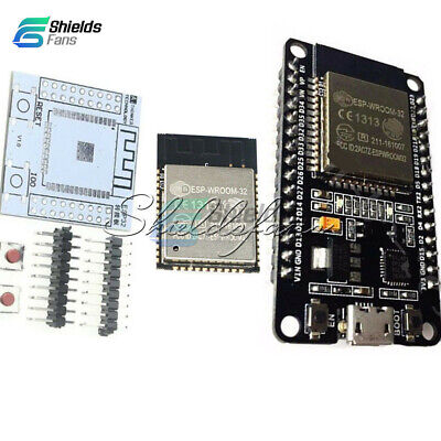 ESP-WROOM-32 ESP32 ESP32S IoT Wifi Wlan BLE Module+Adapter Board New