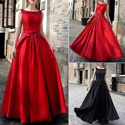 Wedding Women Sleeveless Long Evening Party Ball Prom Gown Cocktail Formal Dress