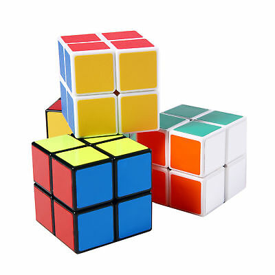 PLAYDO New 2x2x2 Magic Cube Professional ABS Speed Cube Puzzle Twist Brain Games
