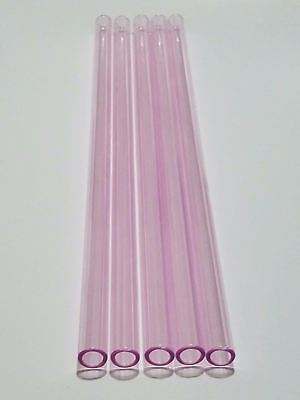 Borosilicate Glass Tubing Straws 12mm OD Purple Pink Black Many Colors Tubes