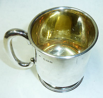 Antique Solid Silver & Gilt Tankard 80mm - Hallmarked Birmingham 1902 - 79g