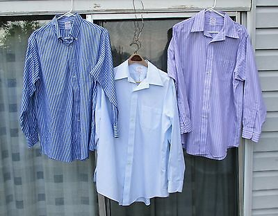 Brooks Brothers - 3 Long Sleeve Dress Shirts Size 16 / 33 Wholesale Lot of 3