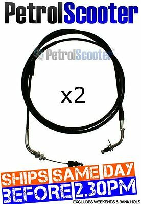 2 Throttle Cable Baotian BT49QT-7 Chinese Import Scooter Lexmoto Glow 50cc QT7