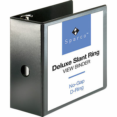 "Sparco Deluxe 5"" 3-Ring View Binder - SPR62474"