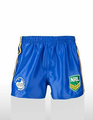 Parramatta Eels NRL Supporters Home On Field Footy Shorts Adult & Kids Sizes!