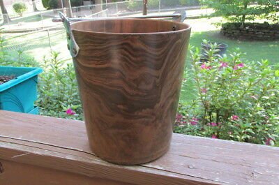 """Vintage Bolt Bolalite Champagne Wine Ice Cooler Bucket Woodgrain look 9.5"""" tall"""