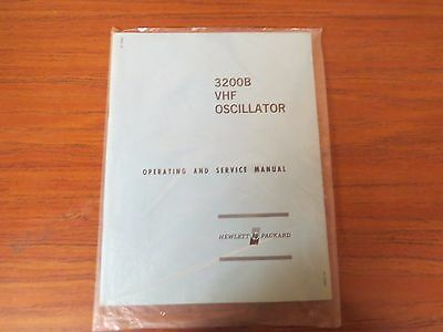 Used Hp 3200B Vhf Oscillator Operating & Service Manual