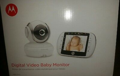 Motorola MBP33XL Monitors 2.4 GHz FHSS Digital Video Color Screen Baby Monitor,