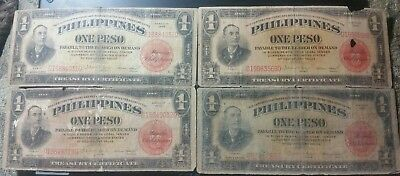 1936 $1 Peso US/Philippines Treasury Notes  ( SALE ) 4 Notes
