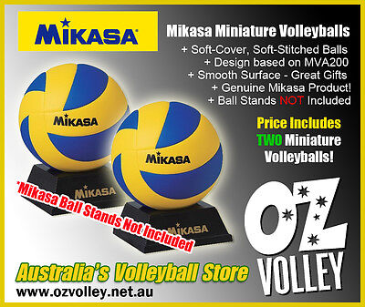 Genuine Mikasa MVA1.5 Mini Volleyballs x 2 - OzVolley - Gift / Fun / Toy