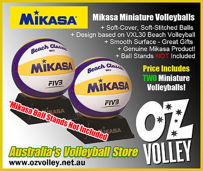 Genuine Mikasa VX3.5 Mini Beach Volleyballs x 2 - OzVolley - Gift/Fun/Toy