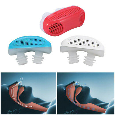 2 in 1 Anti Snoring Nose Clip Device Sleeping Aid Apnea Snore Stopper Purifier