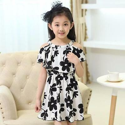 Baby clothes Baby Kid Girls Dress Girl Pageant Wedding Dress Lace Flower 150 US