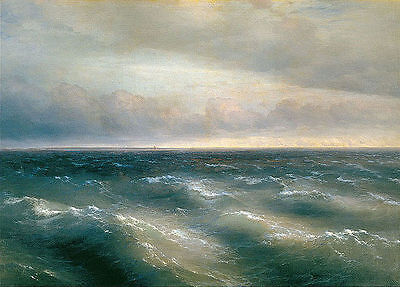 Ivan Aivazovsky The Black Sea Oil Painting  Giclee Canvas Print repro