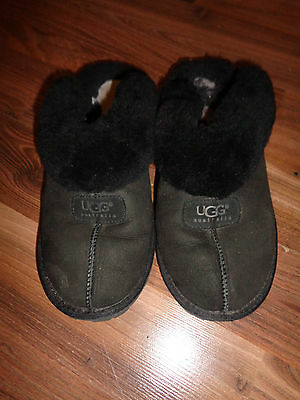 UGG Australia COQUETTE  Suede Sheepskin Slippers Size US 9 #5125 FUZZY used