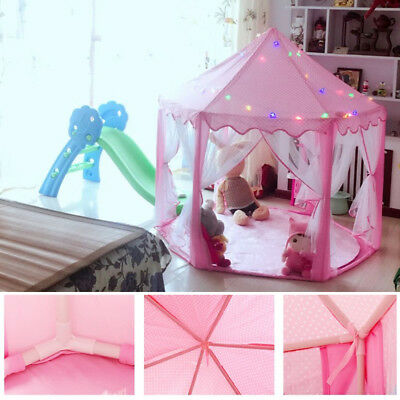 Boys Girls Princess Castle Playhouse Children Kids Toys Play Tent Mosquito Net