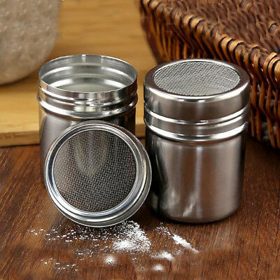 Stainless Steel Dredger Kitchen Filter Tool For Sugar Cocoa Flour Coffee Powder