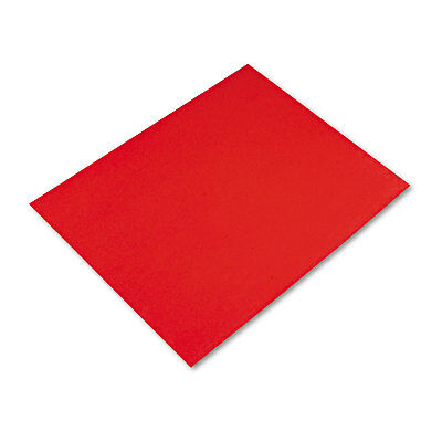 Pacon Peacock Four-Ply Railroad Board, 22 x 28, Red, 25/Carton - PAC54751