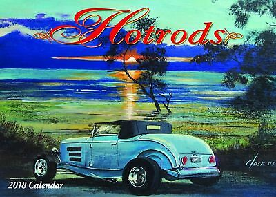 Hotrods 2018 Wall Calendar NEW Bartel Calendars - Postage Included