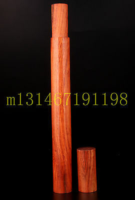 Precious Wood Carving Buddhist Incense Tube Box Paraphernalia  Rare Collectable