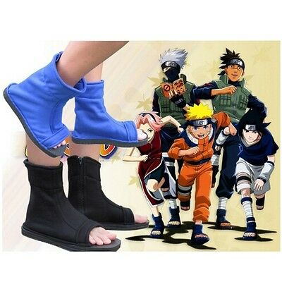 Cosplay Shoes Top Naruto Konoha Ninja Village Blue Sandals Boots Shoes