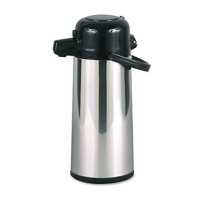 Hormel Commercial Grade 2.2L Airpot, w/Push-Button Pump, Stainless - HORPAE22B