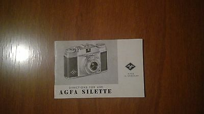 Instruction manual for vintage AGFA Super Silette camera
