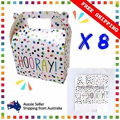 8 X Loot Box Party Favour Lolly Gift Wedding Confetti Hooray!