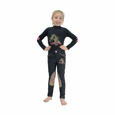 Riding Star Long Sleeved Top by Little Rider Navy