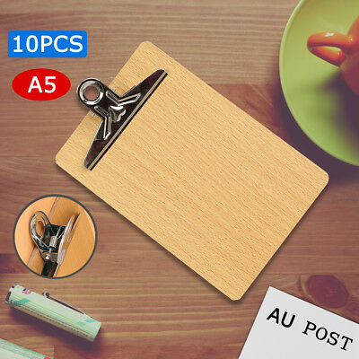 20Pcs Wooden A5 Clipboard Hardboard Menu Board With Clip For Office Coffee Shop