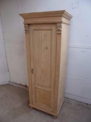 A Pretty Antique/Old Pine Tall ThinMulti Functional Storage Cupboard toWax/Paint