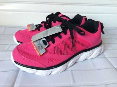 Youth Girls Danskin Now Pink/Black Athletic Shoes Size 1 NEW