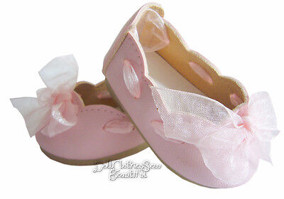 "QUALITY Pink Ribbon Slipon Shoes fits 18"" American Girl Doll Clothes"
