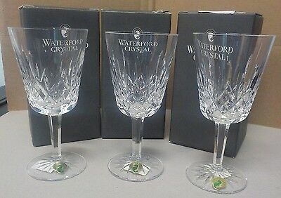 Lot Of 3 Waterford Crystal Lismore 10 Oz Goblets