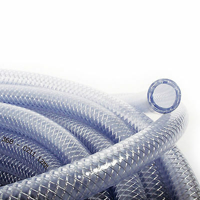 13mm ID PVC Fiber Reinforced Tube Clear Plastic Hose Pipe 1/2""