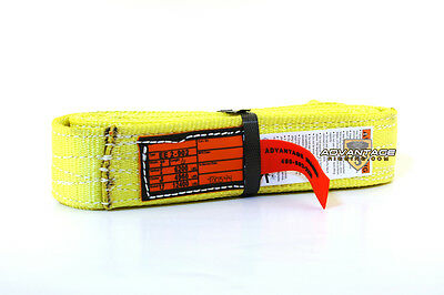 EE2-902 X6FT Nylon Lifting Sling Strap 2 Inch 2 Ply 6 Foot USA MADE Package of 2