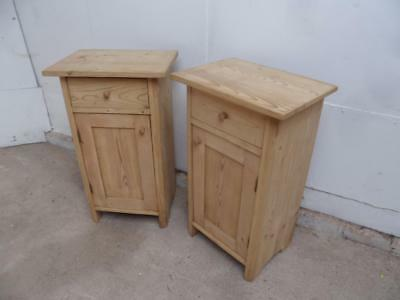 A Cracking Pair of Victorian Antique/Old Pine Large Bedside Cabinets Wax/Paint