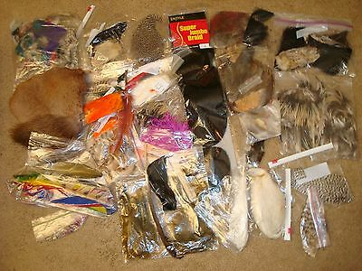 Large Lot of Furs & Feathers for Tying Flies- 1lb-4oz