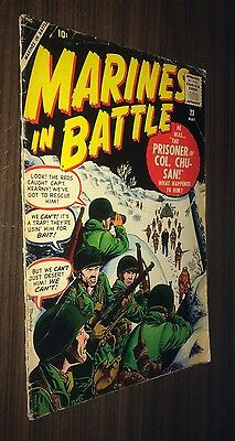 MARINES IN BATTLE #23 -- May 1958 -- ATLAS -- VG- Or Better