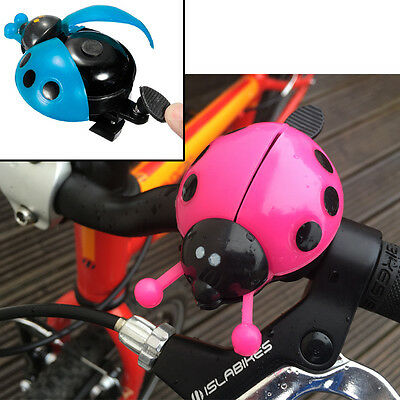 CHILDRENS BIKE BELL KIDS BICYCLE BOYS GIRLS BLUE or PINK NOVELTY LADYBIRD BUG