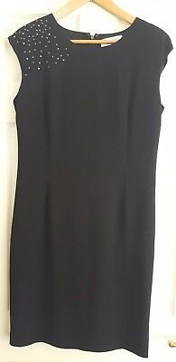 ladies black dress With crystal feature Size 14 by Monacco