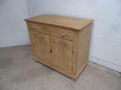 A Quality Large Victorian Antique/Old Pine Kitchen Dresser Base to Wax/Paint